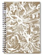 Wood And White Floral- Art By Linda Woods Spiral Notebook
