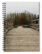 Wood Boardwalk At Valens Spiral Notebook