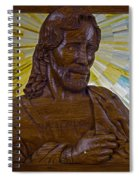 Wood Carving Of Jesus Spiral Notebook
