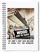Wood Joins The Colors - Ww2 Spiral Notebook