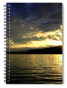Wood Lake Sunburst Spiral Notebook