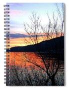 Wood Lake Sunset Spiral Notebook