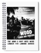 Wood Lands Our Fighters Spiral Notebook