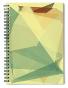 Wood Polygon Pattern Spiral Notebook