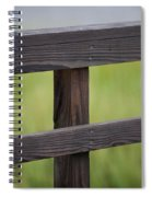 Wood Railing Over The Marsh Spiral Notebook