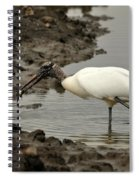Wood Stork With Fish Spiral Notebook