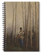 Wood With Soldiers Spiral Notebook