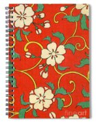 Woodblock Print Of Apple Blossoms Spiral Notebook