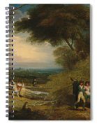 Woodcutters In Windsor Park Spiral Notebook