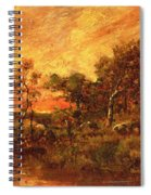 Wooded Landscape With A Faggot Gatherer Spiral Notebook