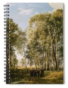 Wooded Landscape With A Group Of Figures In Costume Spiral Notebook