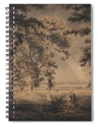 Wooded Landscape With Rainbow Spiral Notebook