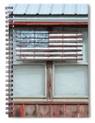 Wooden American Flag On Red Barn Spiral Notebook