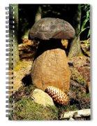 Wooden Art Spiral Notebook