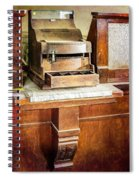 Wooden Bank Cash Register Spiral Notebook