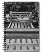 Wooden Bench Spiral Notebook