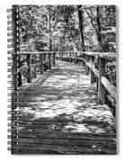 Wooden Boardwalk B Spiral Notebook
