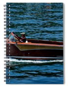 Wooden Boat Waves On Tahoe Spiral Notebook