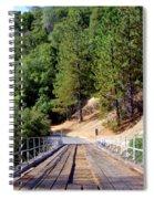 Wooden Bridge Over Deep Gorge Spiral Notebook