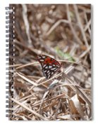 Wooden Butterfly Spiral Notebook
