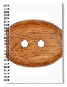 Wooden Button Spiral Notebook