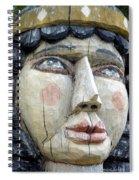 Wooden Carving In Santa Fe 8 Spiral Notebook
