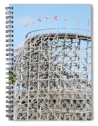 Wooden Coaster Spiral Notebook