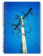 Wooden Electric Pole Spiral Notebook