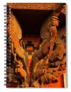 Wooden Elephants Spiral Notebook