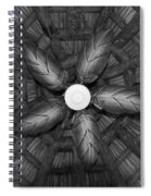 Wooden Fan Spiral Notebook