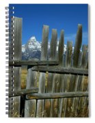 Wooden Fence, Grand Tetons Spiral Notebook