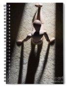 Wooden Figurine Spiral Notebook