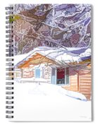 Wooden House In Winter Forest Spiral Notebook