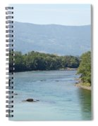 wooden house on rock Drina river Serbia Spiral Notebook
