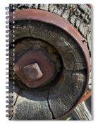 Wooden Hub Spiral Notebook