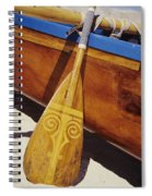 Wooden Paddle And Canoe Spiral Notebook