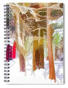 Wooden Shed In Winter Spiral Notebook