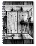 Wooden Window II Spiral Notebook
