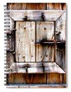 Wooden Window Spiral Notebook