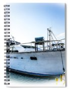 Wooden Yacht In Mooring Spiral Notebook