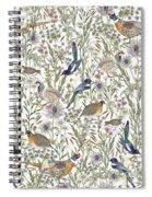 Woodland Edge Birds Spiral Notebook