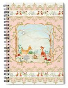 Woodland Fairy Tale - Blush Pink Forest Gathering Of Woodland Animals Spiral Notebook