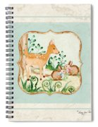 Woodland Fairy Tale - Deer Fawn Baby Bunny Rabbits In Forest Spiral Notebook