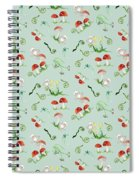 Woodland Fairy Tale - Red Mushrooms N Owls Spiral Notebook
