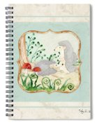 Woodland Fairy Tale - Woodchucks In The Forest W Red Mushrooms Spiral Notebook