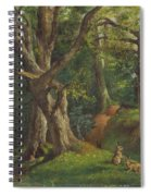 Woodland Scene With Rabbits Spiral Notebook