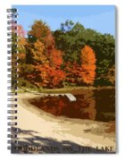 Woodlands On The Lake Spiral Notebook