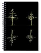 Woodlands Waterway 3 Trees Spiral Notebook