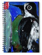 Woodpecker With Prickly Pear Cactus  Spiral Notebook