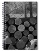 Woodpile Spiral Notebook